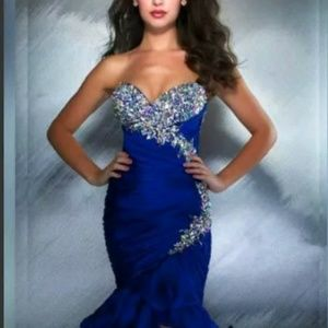 Dresses & Skirts - Royal Blue beaded gown